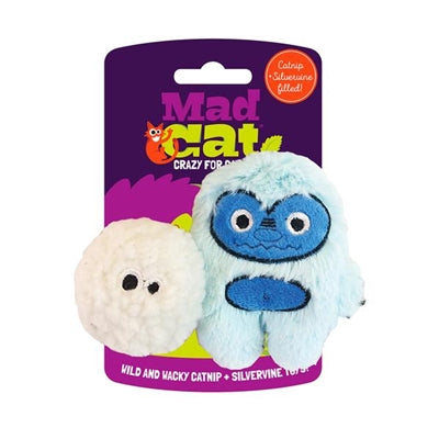 Mad Cat Yowlin Yeti Twin Pack W/Catnip & Silvervine Cat Toy