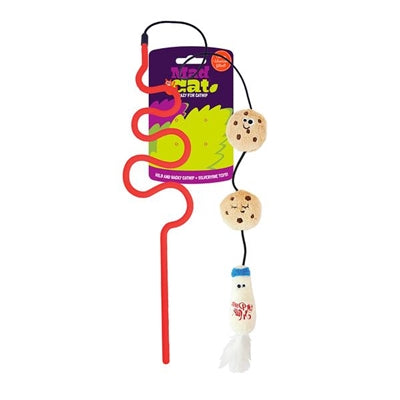 Mad Cat Cookies And Milk Wand W/Catnip & Silvervine Cat Toy