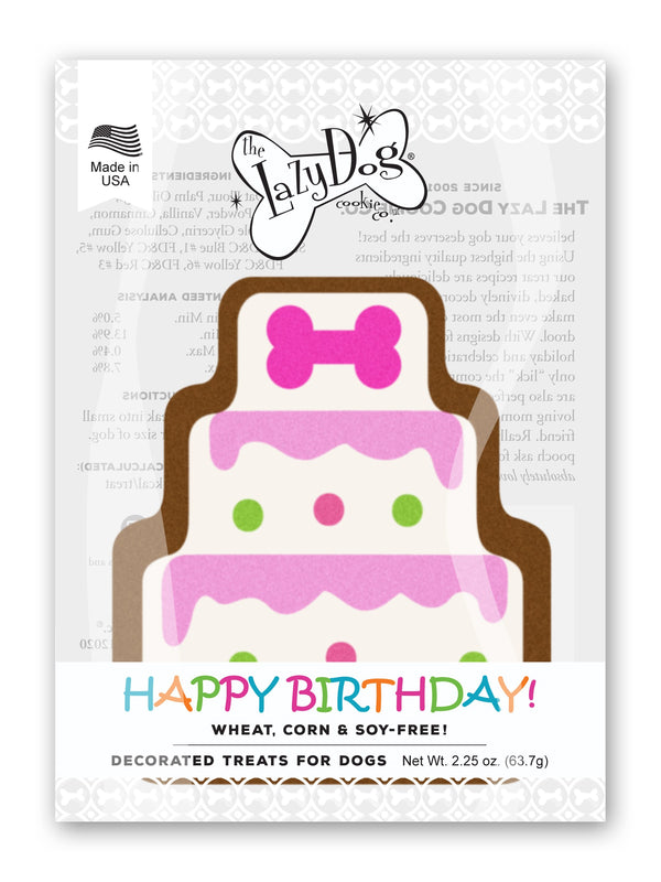 Lazy Dog Cookie Co. Birthday Cake Cookie for a Darling Girl Dog Treat