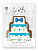 Lazy Dog Cookie Co. Birthday Cake Cookie for a Charming Boy Dog Treat