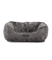 Nandog Pet Gear Crushed Velvet Gray Reversible Cuddler Pet Bed