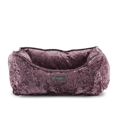 Nandog Pet Gear Crushed Velvet Lavander Reversible Cuddler Pet Bed