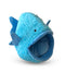 Nandog Pet Gear Blue Fish Shape Micro Fleece Pet Bed