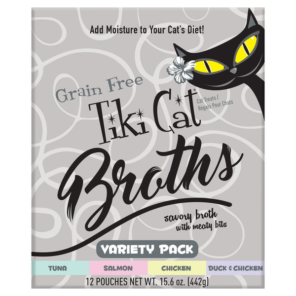 Tiki Pet Variety Pack Broth 1.3oz Pouch Wet Cat Food
