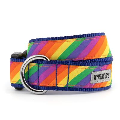 The Worthy Dog Rainbow Collar & Lead Collection - Paw Naturals