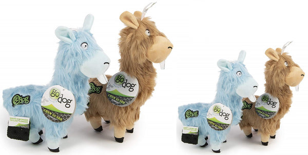 GoDog Furryz Goofy Llamas with Chew Guard Technology Dog Toy