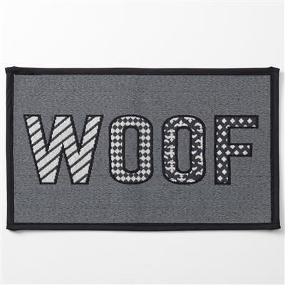 PetRageous Designs! Woof, Gray Tapestry Placemat