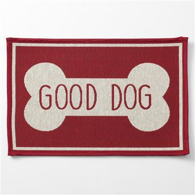 Petrageous Designs! Good Dog Bone, Red Tapestry Placemat