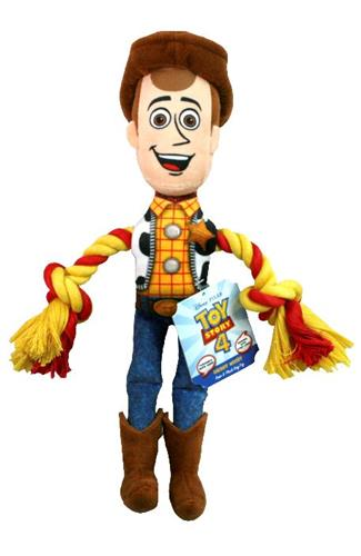 Disney Toy Story 4 Woody With Rope Dog Toy - Paw Naturals