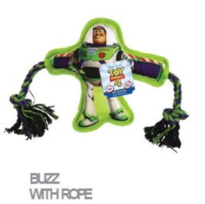 Disney Toy Story 4 Buzz Lightyear With Rope Dog Toy - Paw Naturals