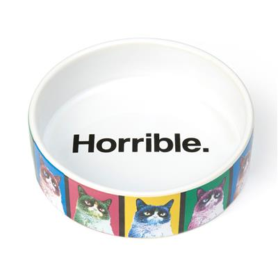 "PetRageous Designs! Grumpy Cat® Pop Art 5"" Shallow Bowl, 1 Cup"