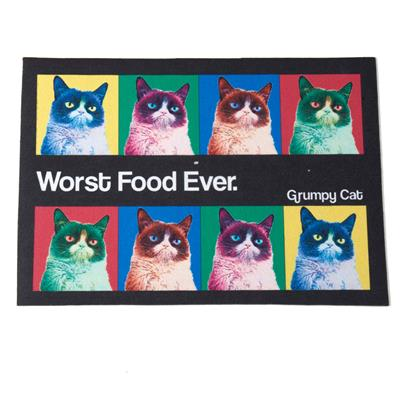 PetRageous Designs! Grumpy Cat® Pop Art Printed Placemat, Non-Slip - Paw Naturals