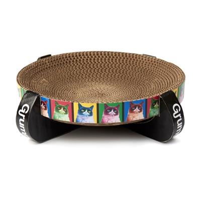 PetRageous Designs! Grumpy Cat® Pop Art Corrugated Cat Scratcher - Paw Naturals