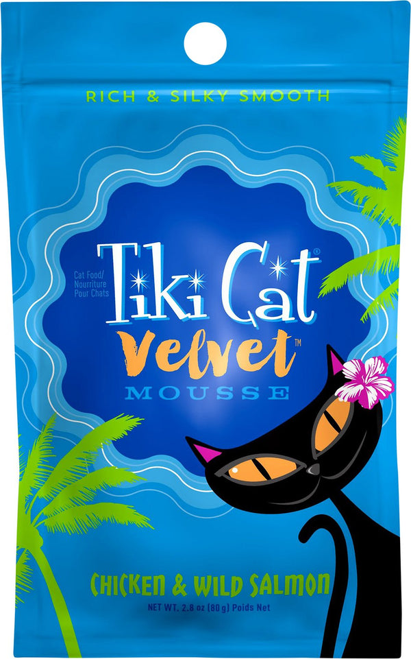 Tiki Pet Velvet Mousse Wet Cat Food Pouch 2.8oz