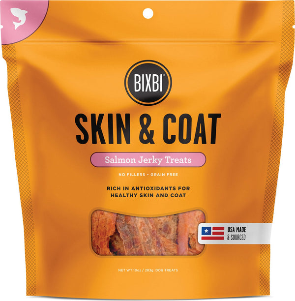 Bixbi Jerky Skin & Coat Salmon 5oz Dog Treat