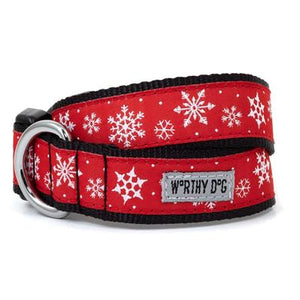 The Worthy Dog Let It Snow Collar Collection
