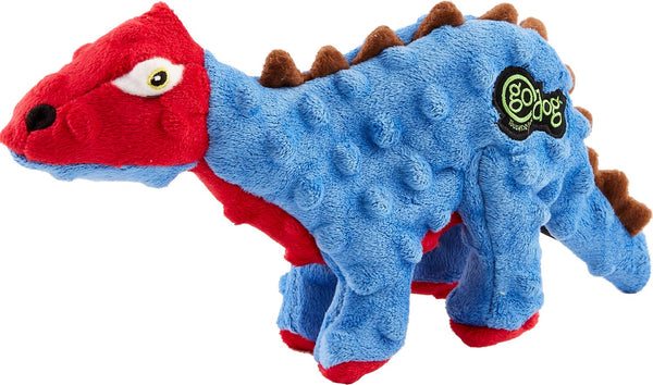 goDog Dinos Blue Spike Dog Toy
