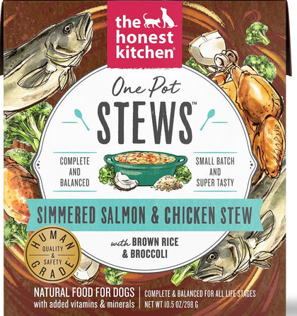 Honest Kitchen One Pot Stews for Dogs 10.5oz Simmered Salmon & Chicken - Paw Naturals