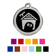 Red Dingo Enamel Pet ID Tag - 1DH - Dog House