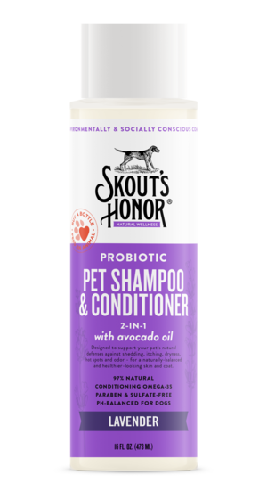 Skout's Honor Probiotic Shampoo + Conditioner Lavender 16oz - Paw Naturals
