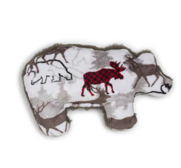 West Paw Design Merry Grizzly Plush Dog Toy