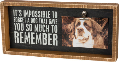 Primitives By Kathy Inset Box Frame - Forget A Dog - Paw Naturals