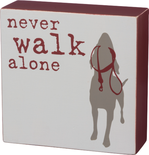 Primitives by Kathy Reverse Box Sign - Never Walk Alone