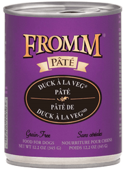 Fromm Grain Free Duck A La Veg Pate 12.2oz Canned Dog Food - Paw Naturals