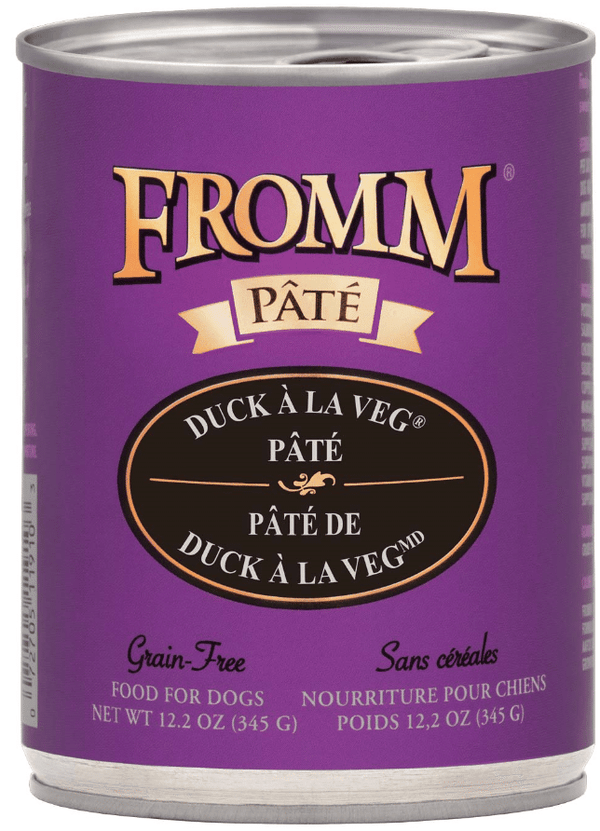 Fromm Grain Free Duck A La Veg Pate 12.2oz Canned Dog Food
