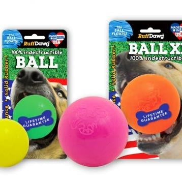 Ruff Dawg Rubber The Ball Retrieving Toy - Paw Naturals