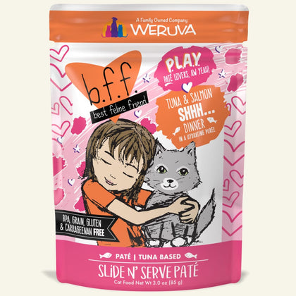 Weruva BFF Play Wet Cat Food Pouch Tuna Salmon Shhh... - Paw Naturals