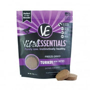 Vital Essentials Raw Freeze-Dried Mini Patties Turkey Dog Food 1lb
