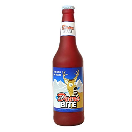 Silly Squeakers Beer Bottle Deers Bite Dog Toy