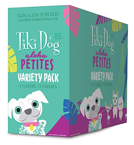 Tiki Pet Variety Pack Aloha 3.5oz Pouch Wet Dog Food