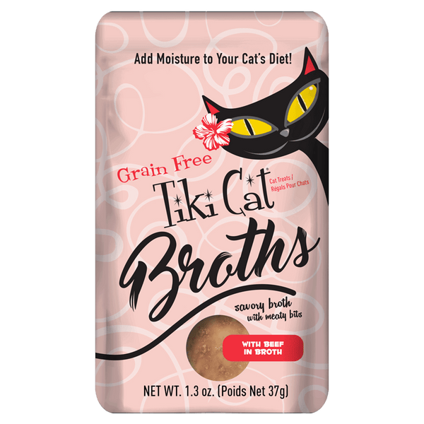 Tiki Pet Broths Wet Cat Food Pouch 1.3oz
