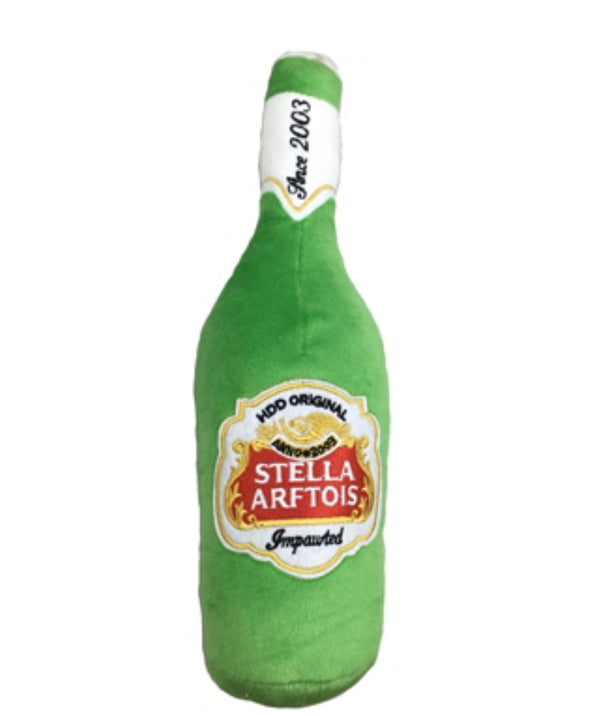 Haute Diggity Dog Stella Arftois Beer Bottle Plush Toy