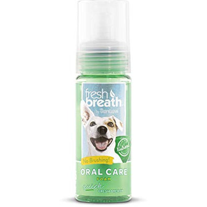Tropiclean Fresh Breath Foam Mint 4.5oz - Paw Naturals