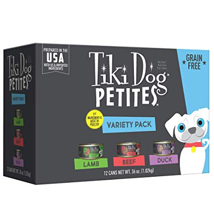 Tiki Pet Variety Pack Petite Pate 3oz Wet Dog Food