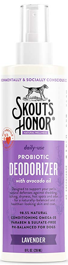 Skout's Honor Probiotic Deodorizing Spray Lavender 8oz - Paw Naturals