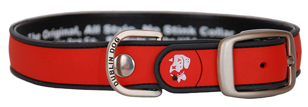 Dublin Dog All Style No Stink Simply Solid Red Collar Small