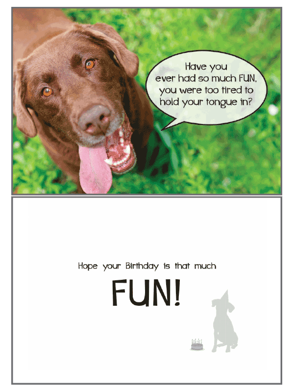 Dog Speak So Much Fun Birthday Card
