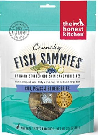 Honest Kitchen Crunchy Fish Sammies Cod & Pear - Paw Naturals