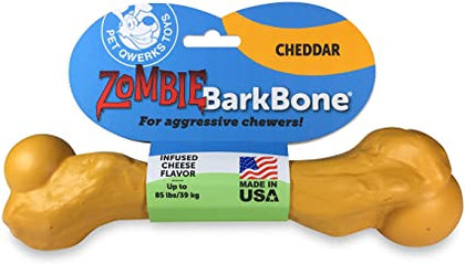 Pet Qwerks Barkbone Zombie Cheddar Nylon Chews Large - Paw Naturals