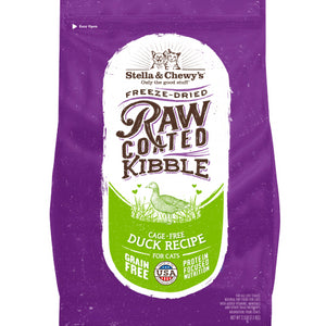 Stella & Chewy's Raw Coated Kibble Cage-Free Duck Recipe Dry Cat Food