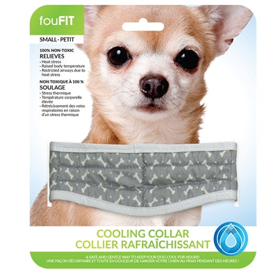 foufouBrands Fou FIt Cooling Cooling Collars Grey