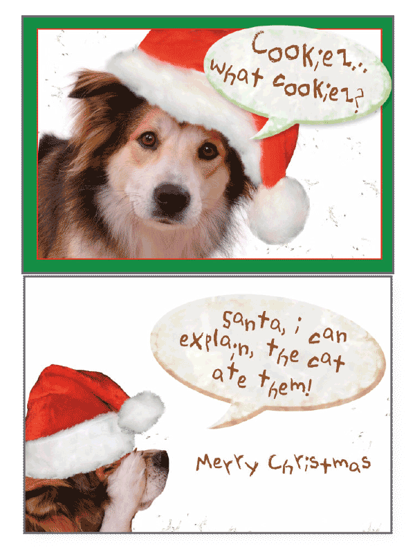 Dog Speak Merry Christmas Card Santa...I Can Explain...