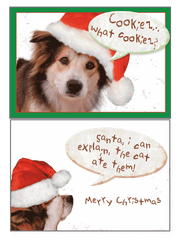 Dog Speak Merry Christmas Card Santa...I Can Explain... - Paw Naturals