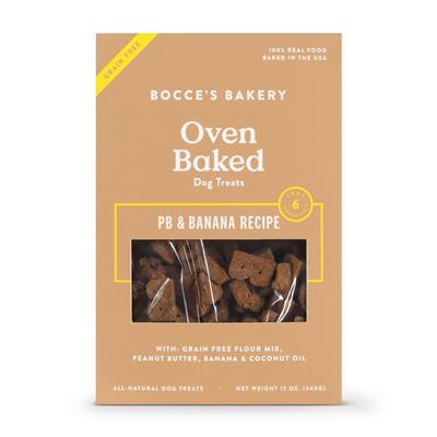 Bocce's Bakery Grain Free Pb And Banana Biscuits Dog Treat 12oz