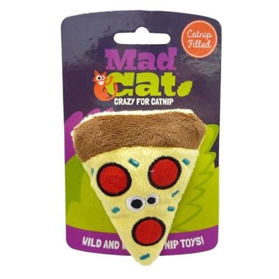 Mad Cat Peppurroni Pizza W/Catnip & Silvervine Cat Toy