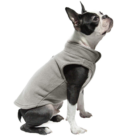 Sparky & Co Fleece Vest + Harness Combo Winter Coat Gray / Small - Paw Naturals